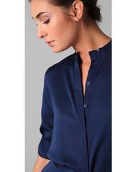 Vince - Blue Shirtdress - Lyst