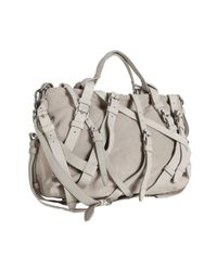 Alexander Wang | Gray Khaki Suede Kirsten Leather Buckle Satchel | Lyst