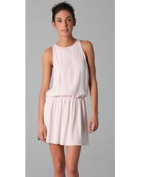 Alice + Olivia | Pink Alaina Drop Waist Dress | Lyst