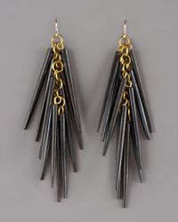 Ashley Pittman | Black Dark Horn Quill Earrings | Lyst