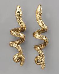 Aurelie Bidermann - Metallic Coiled Snake Earrings - Lyst