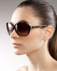 Barton Perreira | Black Kristel Plastic Sunglasses | Lyst