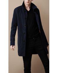 Burberry Brit - Blue Short Packaway Nylon Trench Coat for Men - Lyst
