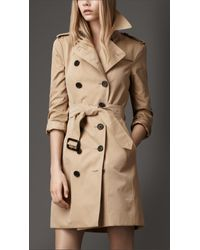 Burberry - Natural Check Undercollar Trench Coat - Lyst