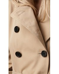 Burberry | Natural Check Undercollar Trench Coat | Lyst