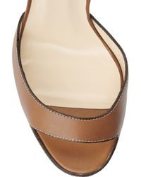 Christian Louboutin - Brown Viola 120 Leather Sandals - Lyst