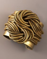 DANNIJO | Metallic Knotted-chain Cuff | Lyst
