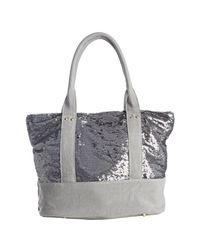 Deux Lux - Metallic Gunmetal Grey Sequined Canvas Ipanema Tote - Lyst