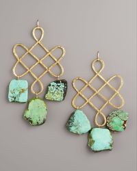 Devon Leigh | Blue Knotted Turquoise Earrings | Lyst