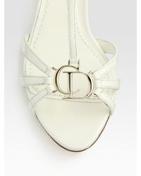 Dior - White Wedge Sandals - Lyst