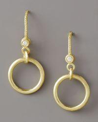 Dominique Cohen - Metallic Ring-drop Diamond Earrings - Lyst