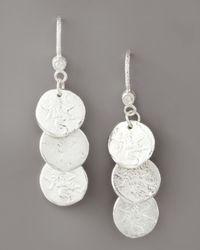 Dominique Cohen - Metallic Short Coin Drop Earrings - Lyst