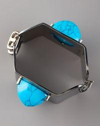 Eddie Borgo - Blue Turquoise-pyramid Hexagonal Cuff - Lyst