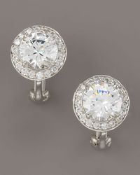 Fantasia by Deserio - Metallic Cubic Zirconia Stud Earrings - Lyst