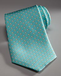 Ferragamo | Blue Turtle Silk Tie for Men | Lyst