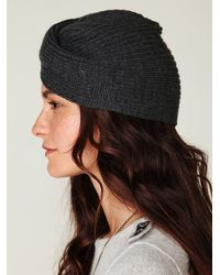 Free People - Black Knitted Turban Beanie - Lyst