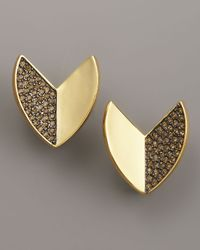 Giles & Brother - Metallic Nara Pave Quartz Stud Earrings - Lyst