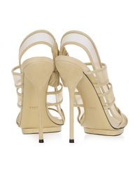 Gucci - Natural Mesh and Suede Sandals - Lyst