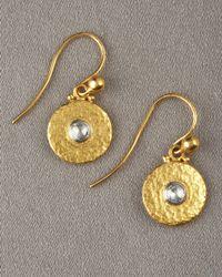 Gurhan - Metallic Droplet Diamond Earrings - Lyst