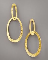 Herve Van Der Straeten | Metallic Double-ellipse Earrings | Lyst