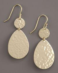 Ippolita - Metallic Hammered Two-drop Earrings, Small - Lyst