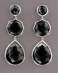 Ippolita - Black Triple-drop Earrings, Onyx - Lyst