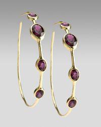 Ippolita | Metallic Rock Candy Garnet Hoop Earrings | Lyst