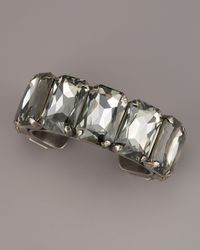 Janis By Janis Savitt - Black Big-stone Cuff Bracelet - Lyst