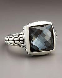 John Hardy | Black Classic Chain Hematite Ring | Lyst