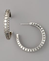 John Hardy | Metallic Dot Hoop Earrings, Medium | Lyst