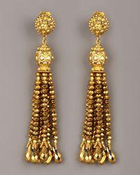 Jose & Maria Barrera - Metallic Bead-tassel Earrings, Gold - Lyst