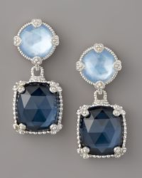Judith Ripka | Quartz Doublet Drop Earrings, Blue | Lyst