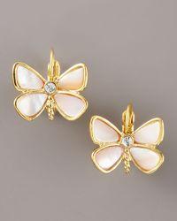 kate spade new york - Metallic Butterfly Earrings - Lyst