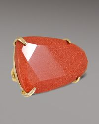 Kendra Scott | Orange Tela Ring, Goldstone | Lyst