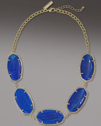 Kendra Scott | Valencia Necklace, Blue Agate | Lyst