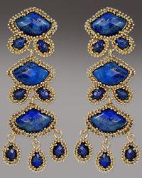 Kendra Scott | Blue Zoe Drop Earrings, Lapis | Lyst