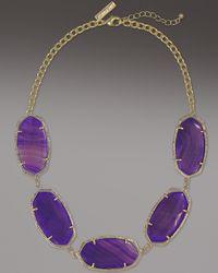 Kendra Scott | Metallic Valencia Necklace, Purple Agate | Lyst
