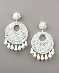 Kenneth Jay Lane | White Gypsy Earrings | Lyst