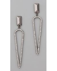 Made Her Think - Metallic Stud Pointed Tears Earrings - Lyst