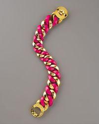Marc By Marc Jacobs - Metallic Katie Acrylic Bracelet, Pink - Lyst
