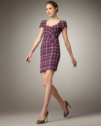 Nanette Lepore | Purple Lilith Metallic Plaid Dress | Lyst
