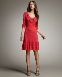 Nanette Lepore - Red Hokey Pokey Sweaterdress - Lyst