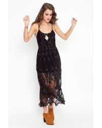 Nasty Gal | Black Willow Maxi Dress | Lyst