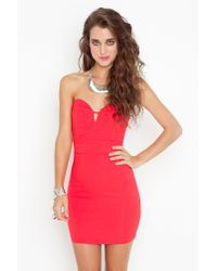 Nasty Gal - Red Serena Sweetheart Dress - Lyst