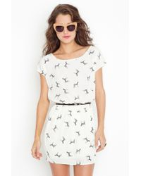 Nasty Gal - White Zebra Bow Dress - Lyst