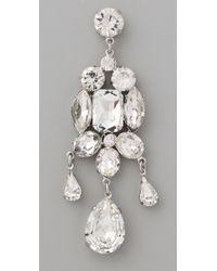 Noir Jewelry - White Holiday Dangle Earrings - Lyst