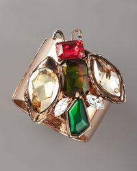 Oscar de la Renta | Multicolor Jeweled Insect Cuff Bracelet | Lyst