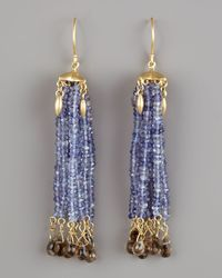 Padma - Blue Iolite Tassel Earrings - Lyst