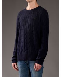 Polo Ralph Lauren - Blue Chunky Knit Jumper for Men - Lyst