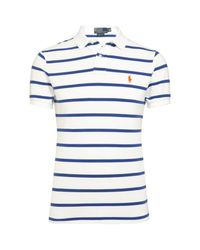 Polo Ralph Lauren | Blue Slim Fit Striped Polo Shirt for Men | Lyst
